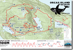Orcas Island 100 route