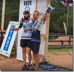 Estonia Ultra-Trail Race Alexander Tikhonov and 64km winner Leivo Sepp